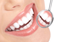 bright smile with mirror tool