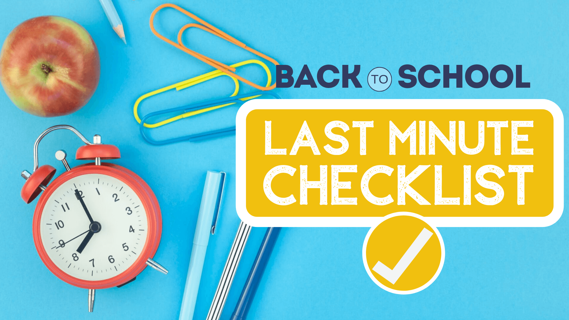 Last minute checklist header
