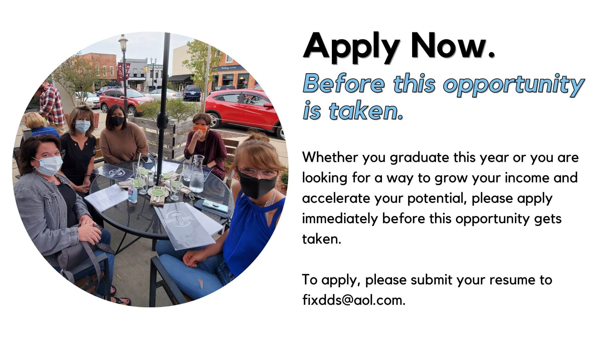 apply to be a part of the fixari team